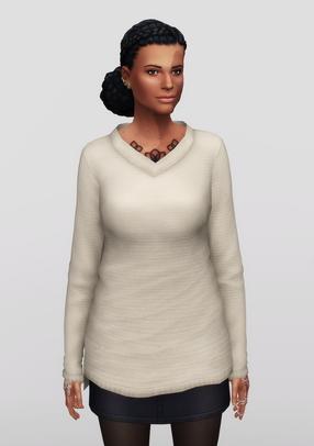 Rusty Nail: Long Line V neck Sweater V1