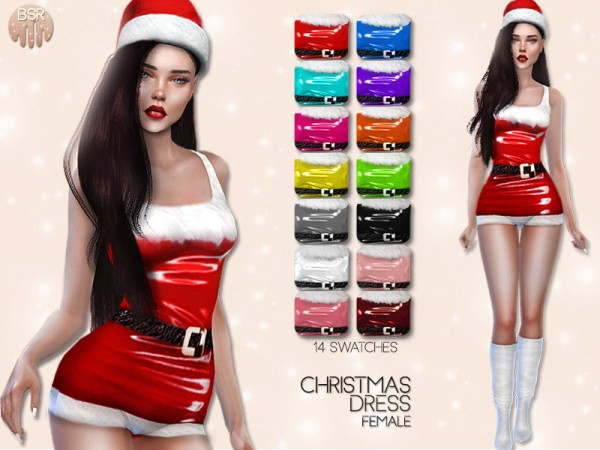 The Sims Resource: Christmas Dress BD01 by busra tr