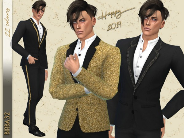 The Sims Resource: New Year Eve Suit by Birba32 • Sims 4 ...
