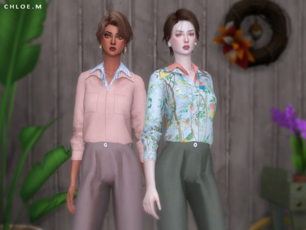 The Sims Resource: Blouse by ChloeMMM