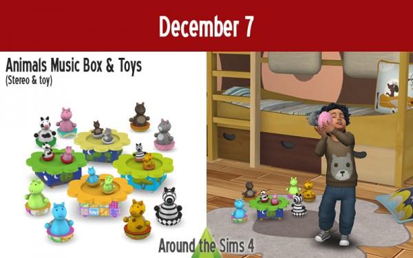 Around The Sims 4: Animals music box and toys