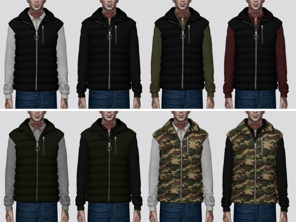 The Sims Resource: Puffer Vest   V1 by Darte77