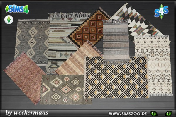 Blackys Sims 4 Zoo: African Rugs by weckermaus