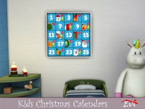 The Sims Resource: Kids Christmas Calendars by evi