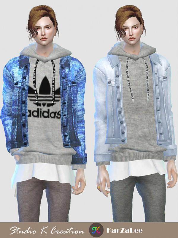 Studio K Creation: Jeans Jacket hoodie top