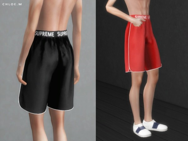 The Sims Resource: Sports shorts male by ChloeMMM