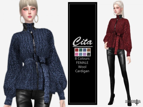 The Sims Resource: Wool  Cardigan by Helsoseira