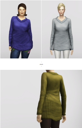 Rusty Nail: Long Line V neck Sweater V4