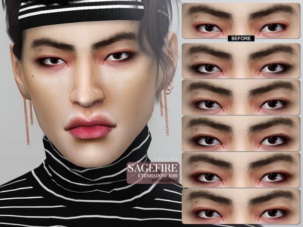 The Sims Resource: Sagefire Eyeshadow N69 by Pralinesims