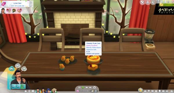 Mod The Sims: Orange Recipes   Orange Cupcake and Orange Plum Cake by icemunmun