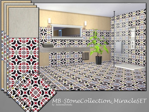 The Sims Resource: Stone  Collection Miracle set by matomibotaki