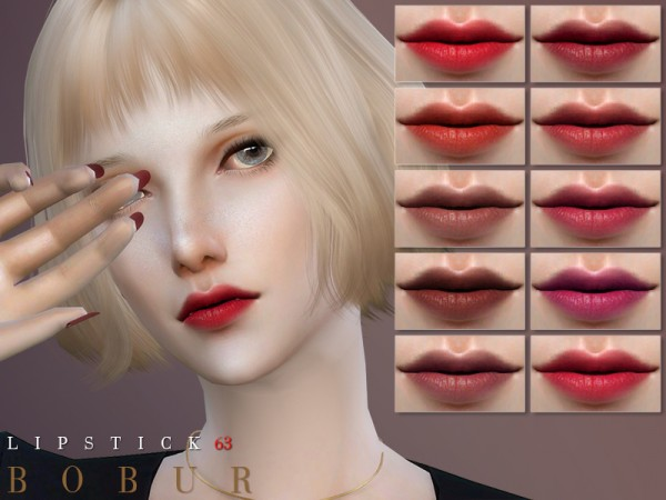 The Sims Resource: Lipstick 63 by Bobur3