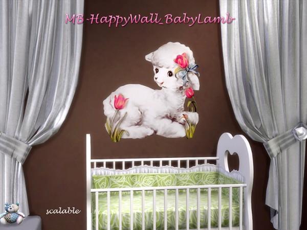 The Sims Resource: Happy Wall Baby Lamb by matomibotaki