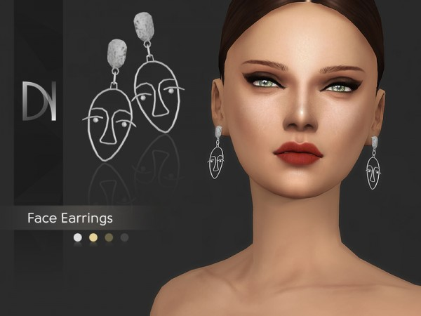The Sims Resource: Face Earrings by DarkNighTt