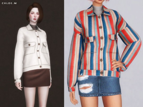 The Sims Resource: Woollen Coat by ChloeMMM