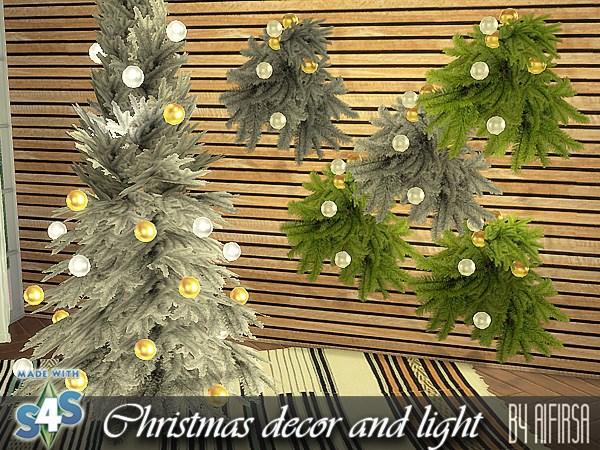 Aifirsa Sims: Christamas Decor and Lights