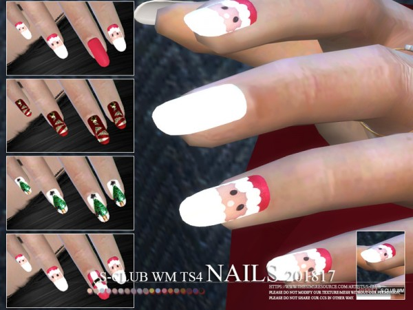 The Sims Resource: Nails 201817 by S club