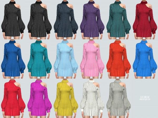 SIMS4 Marigold: Collarbone Mini Dress