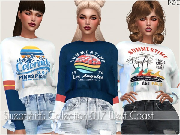 The Sims Resource: Sweatshirts Collection 017 West Coast by Pinkzombiecupcakes