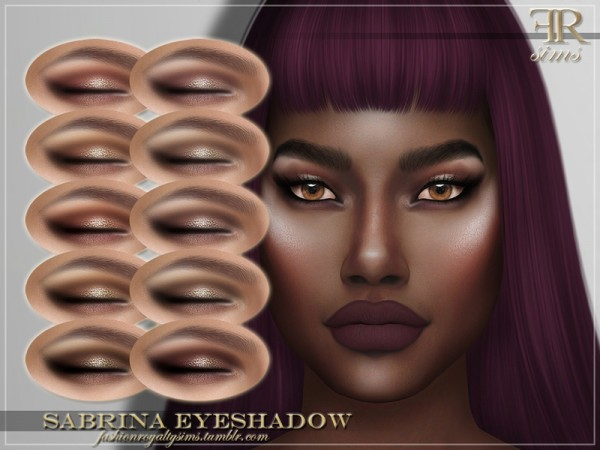 The Sims Resource: Sabrina Eyeshadow by FashionRoyaltySims