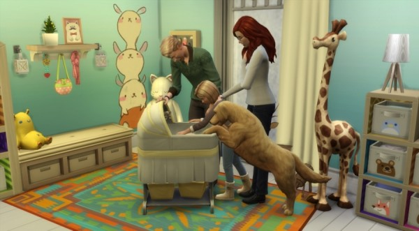 Sims Artists: Pack of poses Around the cradle