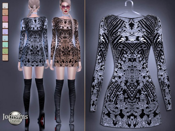The Sims Resource: Alivia dress by jomsims