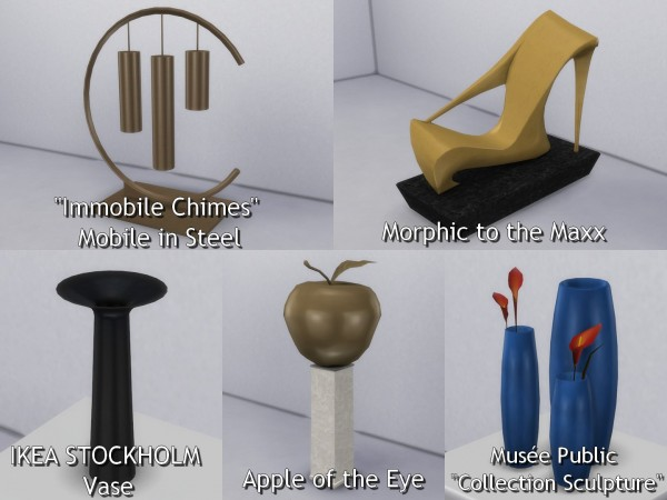 Mod The Sims: Sculptures converted by TheJim07