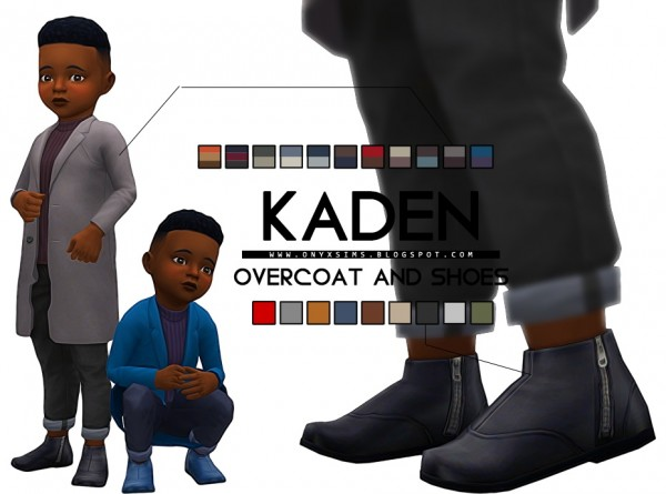 Onyx Sims: Kaden Overcoat and Boots