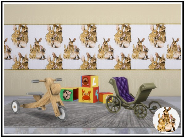 The Sims Resource: Bunny Rabbit Walls by marcorse