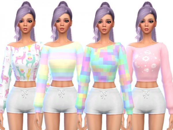 The Sims Resource: Snazzy Long Sleeved Shirts by Wicked Kittie