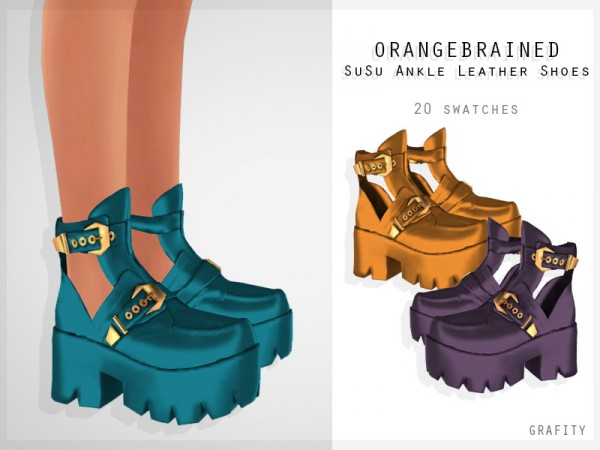 Grafity cc: Susu Ankle Leather Shoes