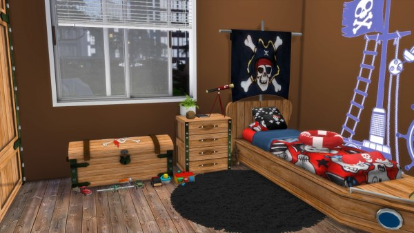 Models Sims 4: Opposite twins bedroom Pirates