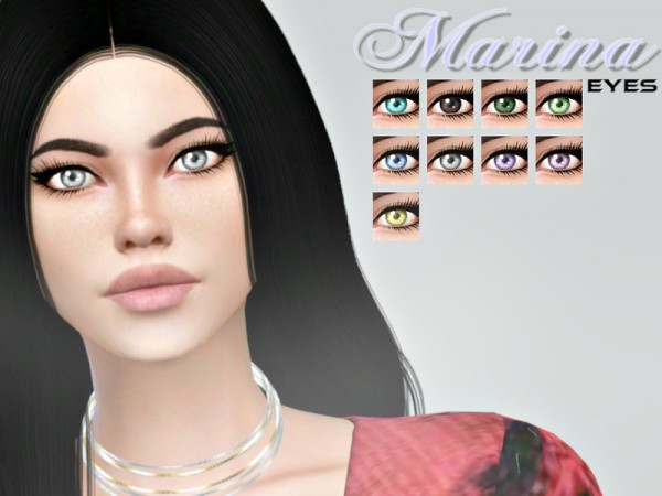 The Sims Resource: Marina Eyes by aesthetic sims4