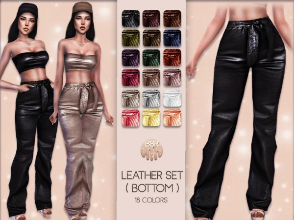 The Sims Resource: Leather pants BD07 by busra tr