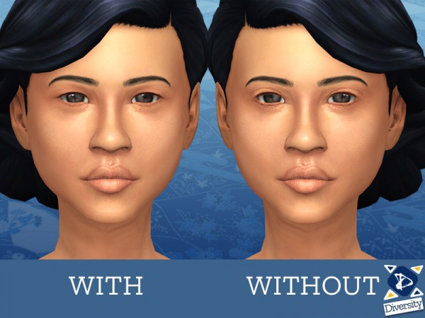 The Sims Resource: Realistic monolid overlay (Asian eyelid) by lilotea