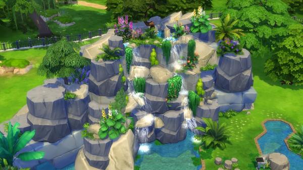 Mod The Sims: Nightingale Waterfall (No CC) by Oo NURSE oO