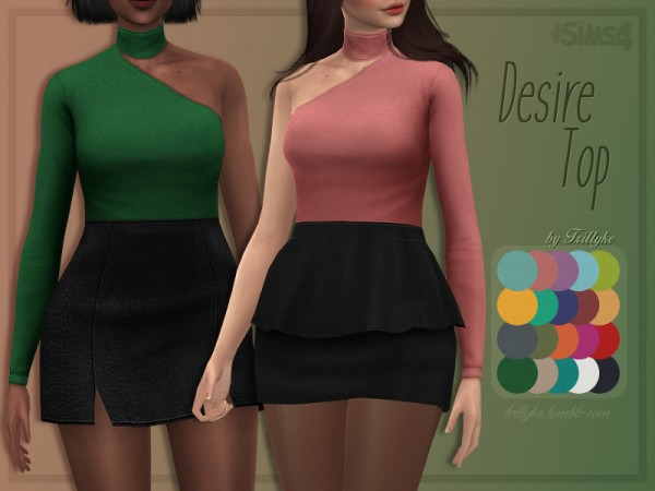 The Sims Resource: Desire Top by Trillyke