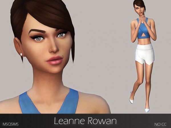 MSQ Sims: Leanne Rowan