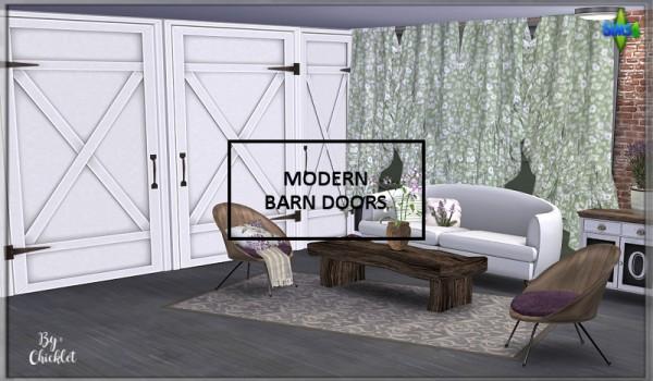 Simthing New: Modern Fake Barn Doors