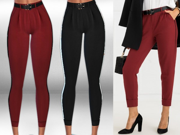 The Sims Resource: Side Stripe Trousers by Saliwa