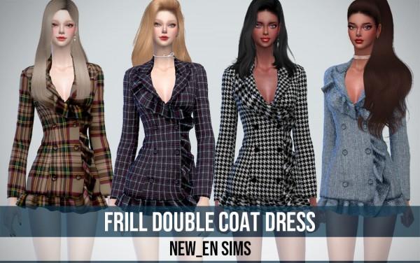 Newen: Frill Double Coat Dress