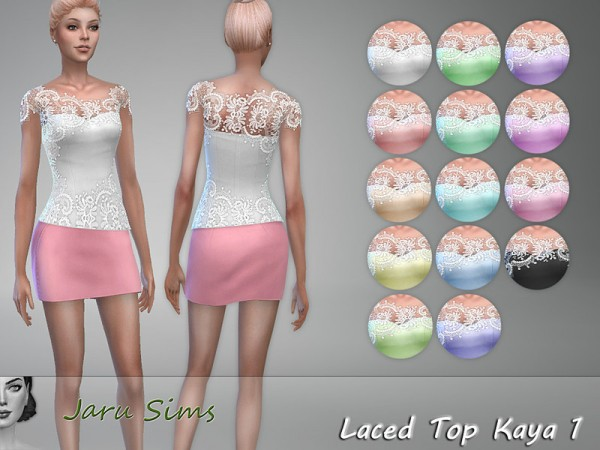 The Sims Resource: Laced Top Kaya 1 by Jaru Sims