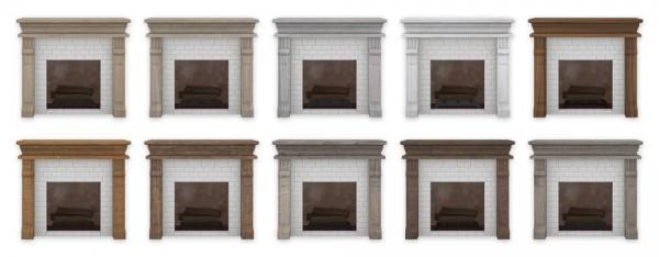 Simplistic: Brick Fireplace
