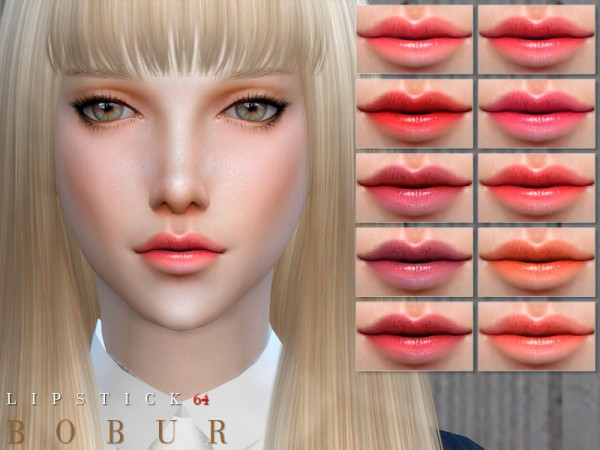 The Sims Resource: Lipstick 64 by Bobur