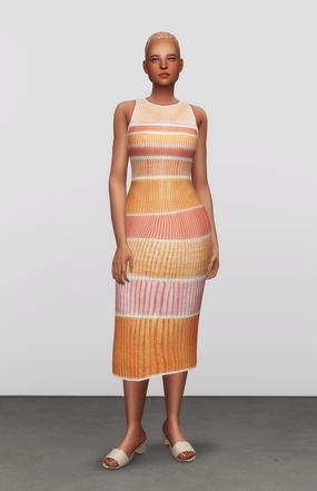 Rusty Nail: Striped Stretch Knit Dress