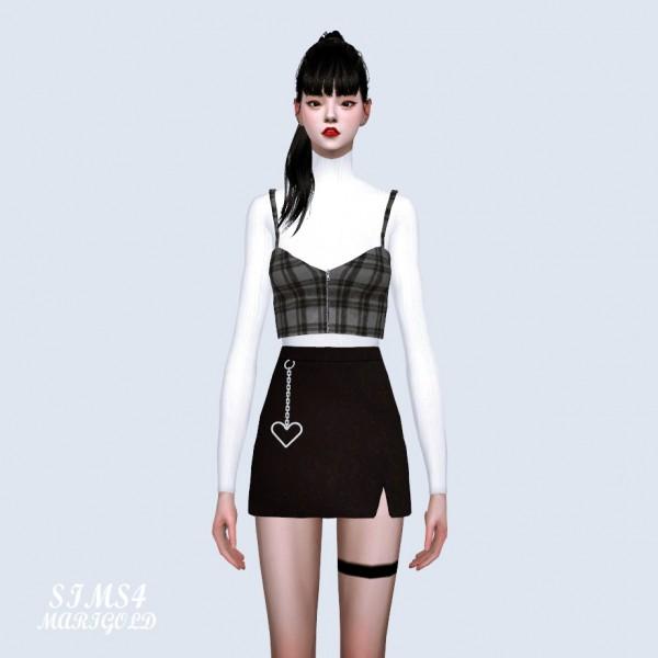 SIMS4 Marigold: Heart Chain Mini Skirt