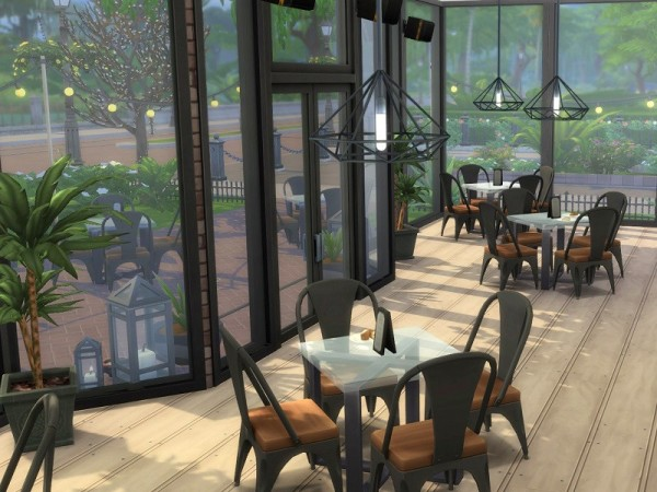 The Sims Resource: Urban Cafe by Homes by Elise