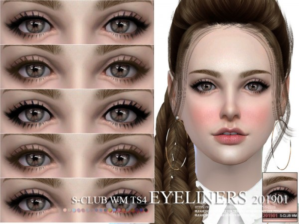 The Sims Resource: Eyeliners 201901 by S Club