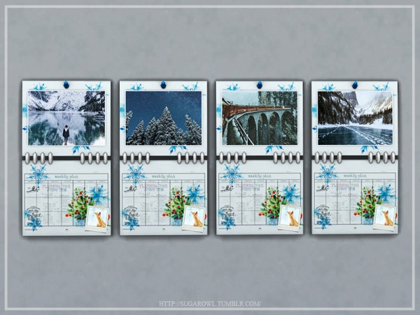 The Sims Resource: Winter calendar by sugar owl
