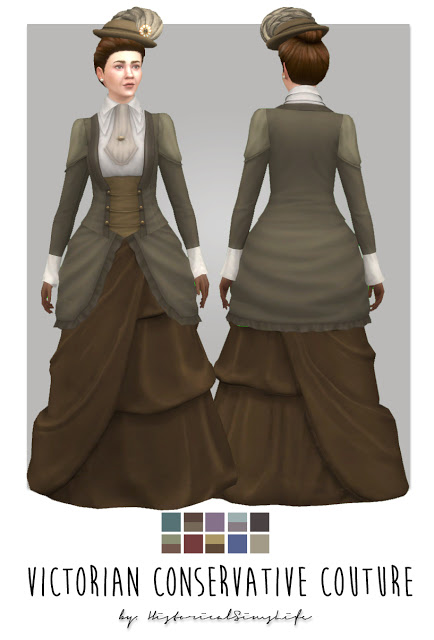 History Lovers Sims Blog: Vicorian Conservative Dress